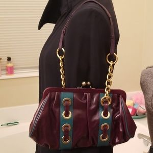 Kate Landry Collection Turquoise and Plum Bag